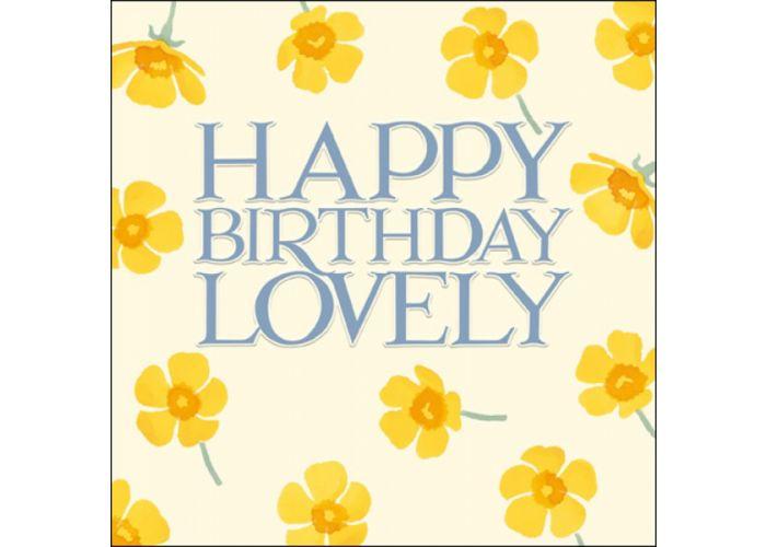 verjaardagskaart woodmansterne - happy birthday lovely – bloemen