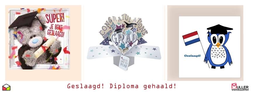geslaagd - diploma