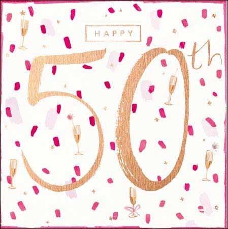 Super 50 jaar verjaardagskaart - happy 50th   Muller wenskaarten #WP62