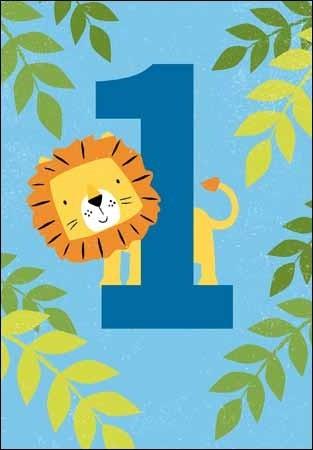 afbeelding 1 jaar 1 jaar   verjaardagskaart   leeuw   Muller wenskaarten afbeelding 1 jaar