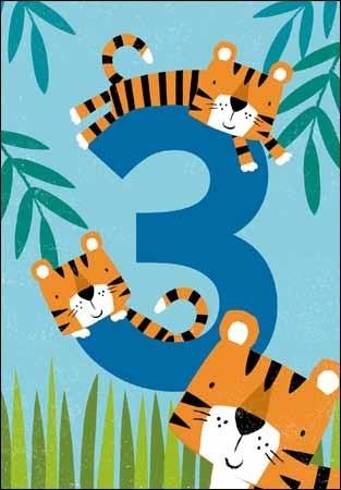 verjaardagskaart 3 jaar 3 jaar   verjaardagskaart   tijgers | Muller wenskaarten verjaardagskaart 3 jaar