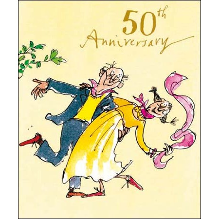 cartoon 50 jaar getrouwd 50 jaar getrouwd   wenskaart woodmansterne quentin blake   50th  cartoon 50 jaar getrouwd