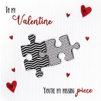 Luxe Valentijnskaart To My Valentine Youre My Missing Piece