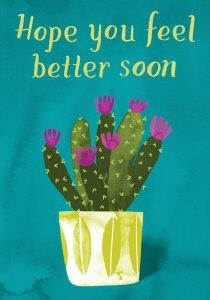 Beterschapskaart Roger La Borde Hope You Feel Better Soon Cactus