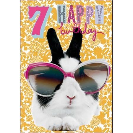 7 jaar 7 jaar   verjaardagskaart woodmansterne   happy birthday   konijn  7 jaar