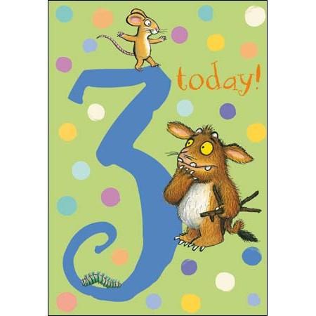3 Jaar Verjaardagskaart Woodmansterne Gruffalo Muller Wenskaarten