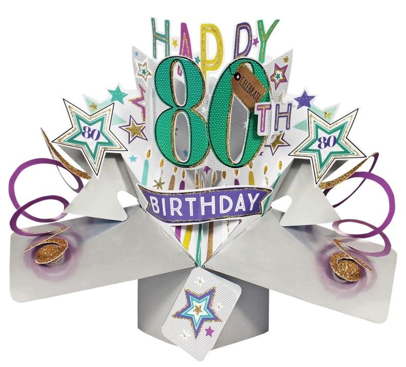 Super 80 jaar - 3D kaart - pop ups - happy 80th birthday | Muller &GW58