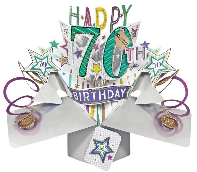 kaart 70 jaar 70 jaar   3D kaart   pop ups   happy 70th birthday | Muller  kaart 70 jaar