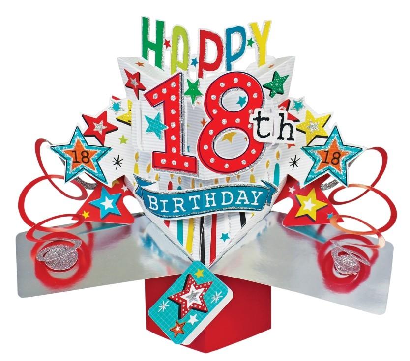 kaart 18 jaar 18 jaar   3D kaart   pop ups   happy 18th birthday | Muller  kaart 18 jaar