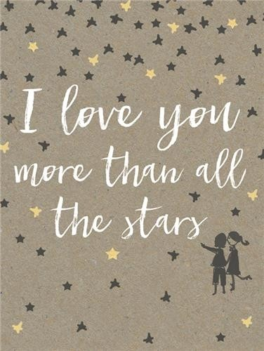 Wenskaart Piano Small Notecards I Love You More Than All The Stars