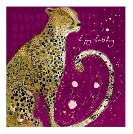 verjaardagskaart woodmansterne opium - happy birthday - cheeta
