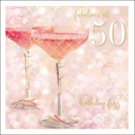verjaardagskaart vrouw 50 Verjaardag Vrouw 50 Champagne   ARCHIDEV verjaardagskaart vrouw 50