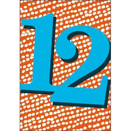 12 Jaar Verjaardagskaart Woodmansterne Blauw Rood Muller