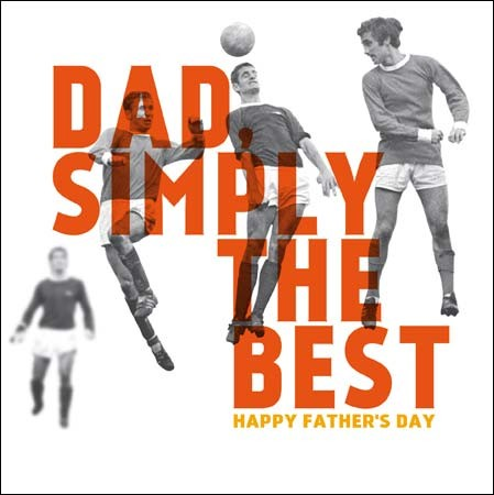 vaderdagkaart woodmansterne - dad simply the best - happy father s day - voetbal