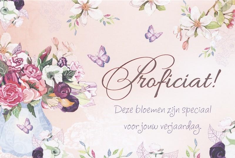 Bekend verjaardagskaart tender moments - proficiat deze bloemen zijn  #WD-82