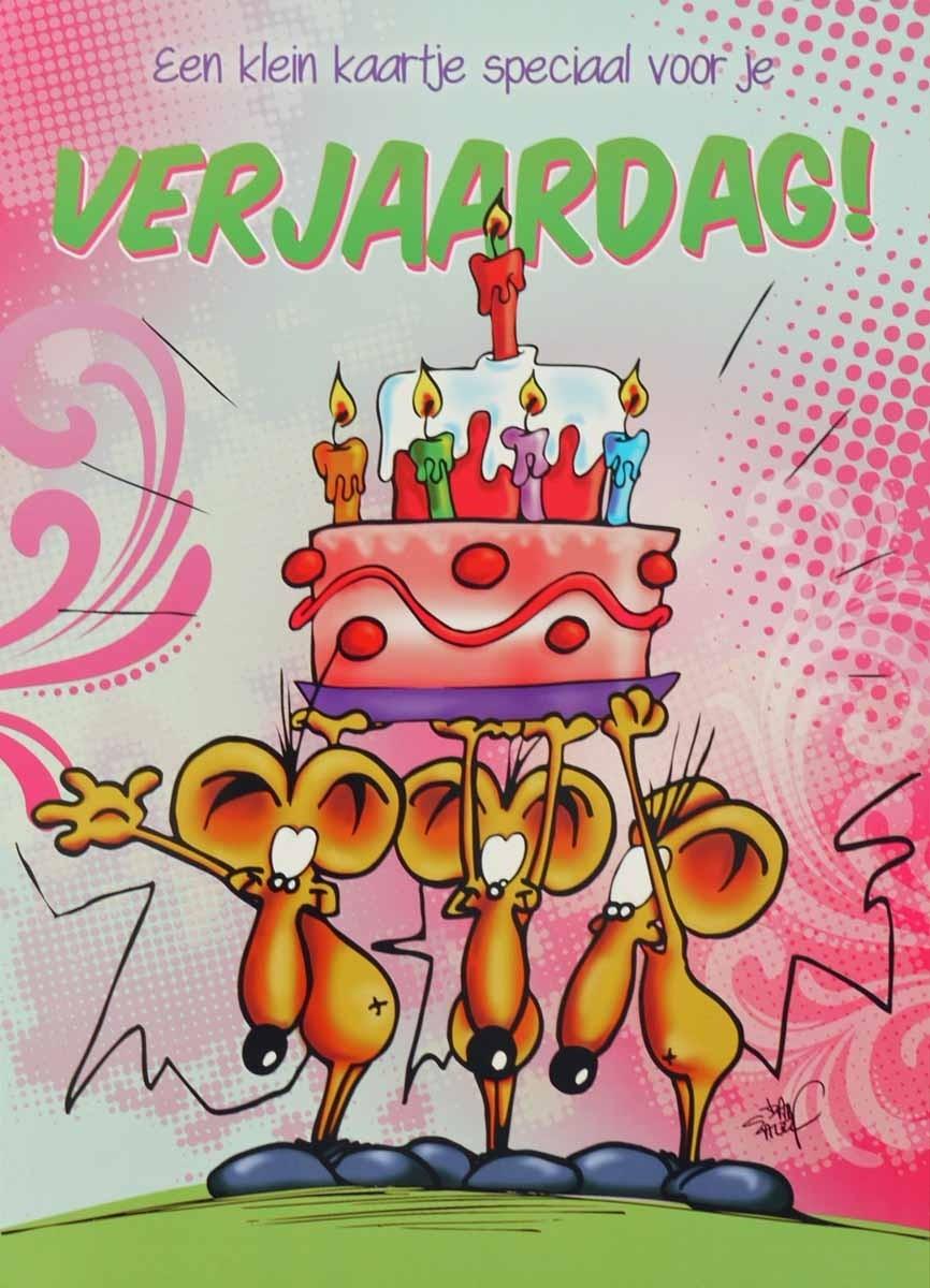 Zeer grote verjaardagskaart A4+ - een klein kaartje speciaal voor je &GE45