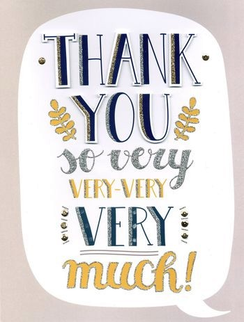 Grote Bedankkaart A4 Thank You So Very Much Muller Wenskaarten