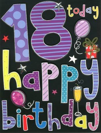 afbeelding 18 jaar 18 jaar   grote verjaardagskaart A4   happy birthday | Muller  afbeelding 18 jaar