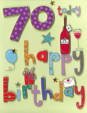 70 jaar 70 jaar   grote verjaardagskaart A4   happy birthday | Muller  70 jaar