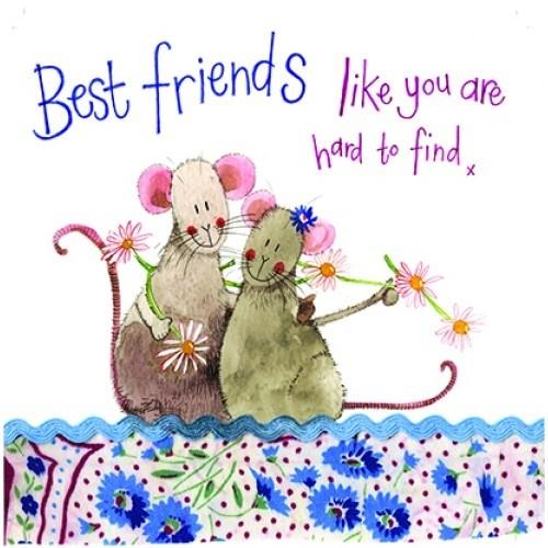 Wenskaart Alex Clark Best Friends Like You Are Hard To Find X