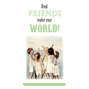 Magnetische boekenlegger: Real friends make your world (Betsy Cameron)