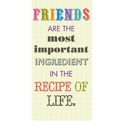 Magnetische boekenlegger: Friends are the most important..