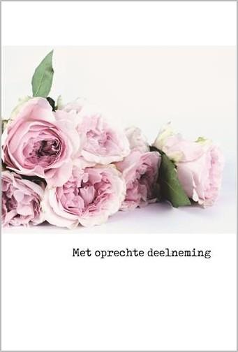 Citaten Over Rozen : Condoleancekaart met oprechte deelneming rozen muller wenskaarten