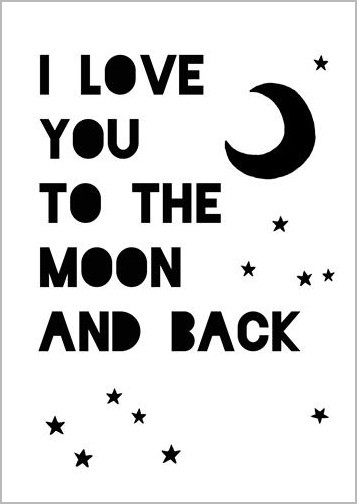 Ansichtkaart I Love You To The Moon And Back Muller Wenskaarten