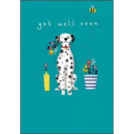beterschapskaart woodmansterne - get well soon - hond