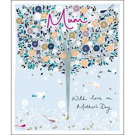 grote moederdagkaart woodmansterne - mum with love on mother's day