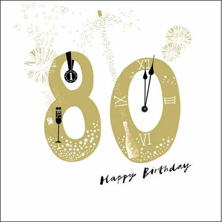verjaardagskaart 80 jaar 80 jaar   verjaardagskaart woodmansterne   happy birthday | Muller  verjaardagskaart 80 jaar