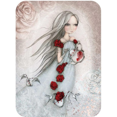 santoro eclectic cards - rose tea