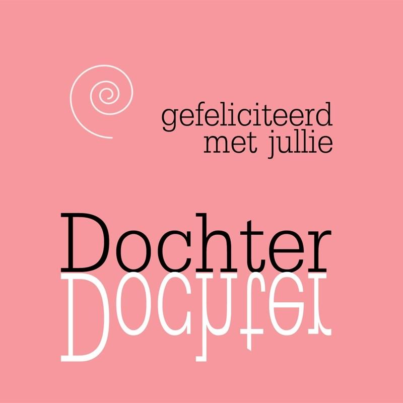 Geboortekaartje Spiegel Gefeliciteerd Met Jullie Dochter Muller