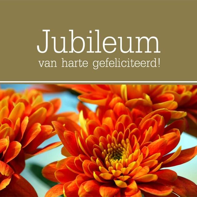 gefeliciteerd met uw jubileum felicitatiekaart jubileum   van harte gefeliciteerd!   bloemen  gefeliciteerd met uw jubileum