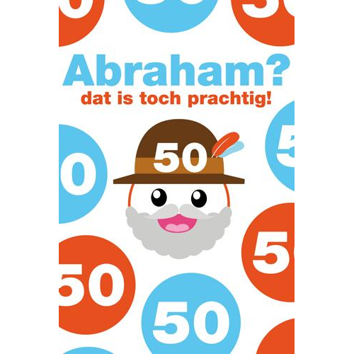 Favoriete 50 jaar - Abraham dat is toch prachtig | Muller wenskaarten #JU-93