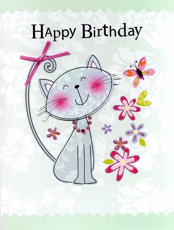 Grote Verjaardagskaart A4 Happy Birthday Kat Muller Wenskaarten
