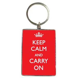 Sleutelhanger: Keep calm and carry on