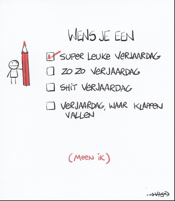 Verjaardagskaart Leendert Jan Vis Wens Je Een Super Leuke