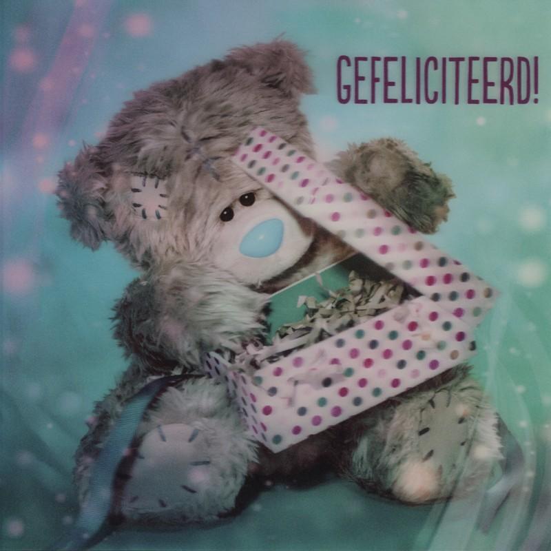 me to you gefeliciteerd me to you 3D felicitatiekaart   gefeliciteerd   cadeau | Muller  me to you gefeliciteerd