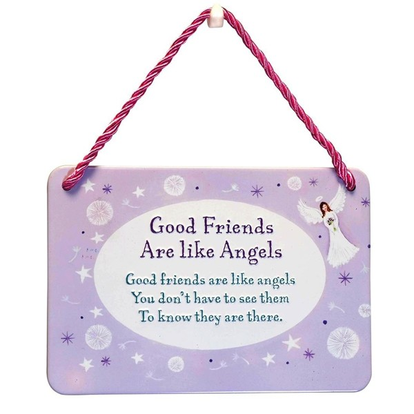 hang-ups! - tinnen bordje - good friends are like angels