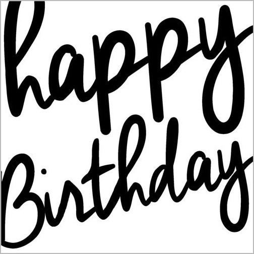 Verjaardagskaart Piano Handwriting Happy Birthday Muller