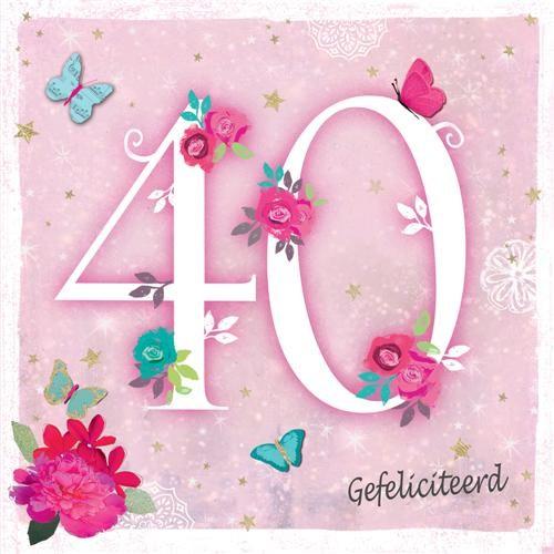 40 gefeliciteerd 40 jaar   felicitatiekaart   gefeliciteerd | Muller wenskaarten 40 gefeliciteerd