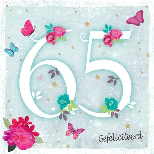gefeliciteerd 65 65 jaar   felicitatiekaart   gefeliciteerd | Muller wenskaarten gefeliciteerd 65