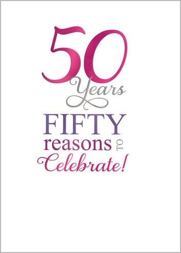 50 jaar verjaardag kaart 50 jaar   verjaardagskaart   50 years fifty reasons to celebrate  50 jaar verjaardag kaart