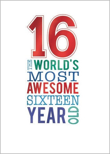 16 Jaar Verjaardagskaart 16 The Worlds Most Awesome Sixteen Year