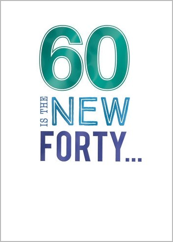 New 60 - 69 jaar | verjaardagskaarten | Muller wenskaarten | online #PR32