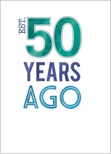 50 Jaar Verjaardagskaart Est 50 Years Ago Muller Wenskaarten