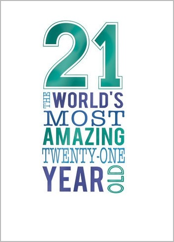 Favoriete 21 jaar - verjaardagskaart - 21 the worlds most amazing twenty-one  @DM77
