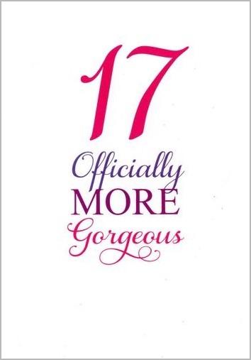 17 jaar verjaardag 17 jaar   verjaardagskaart   17 officially more gorgeous | Muller  17 jaar verjaardag