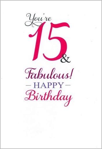 verjaardag 15 jaar 15 jaar   verjaardagskaart   you re 15 & fabulous! happy birthday  verjaardag 15 jaar